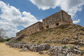 The governor s palace in uxmal yucatan mexico ruin of sitting on top of a hill Stock Image