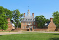 The Governors Palace Building in Colonial Williamsburg, Virginia Royalty Free Stock Photo