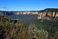 Govetts leap, blue mountains, australia Stock Photos