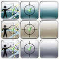 Gprs navigator buttons design icons pointer quiet tone Stock Photos