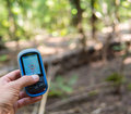 Gps adventure or exploring outdoors Stock Images