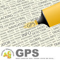 Gps concept illustration graphic tag collection wordcloud collage Stock Photography