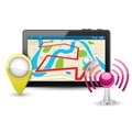 Gps device easy to edit vector illustration of Royalty Free Stock Images