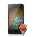 Gps locator illustration design over a white background Stock Images