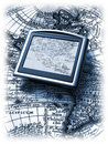 Gps and map Royalty Free Stock Photography