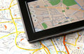 GPS and map Royalty Free Stock Images