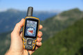 GPS in the mountains Royalty Free Stock Photo