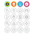 GPS navigation icons. Car and Ship transport. Royalty Free Stock Photo