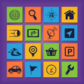 Gps navigation icons editable vector set Stock Image