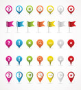 GPS Navigation & Map icons Royalty Free Stock Photography