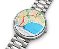 GPS navigation on smartwatch Royalty Free Stock Photo