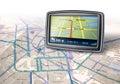 Gps navigator device Royalty Free Stock Photo