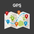 Gps signals design vector illustration eps graphic Royalty Free Stock Images