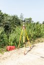 Gps surveying unit in field Stock Photography