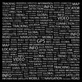 Gps word cloud illustration tag cloud concept collage Stock Photography