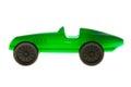 Gröna toy car Arkivbild