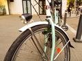 Grünes fahrrad Stockbild