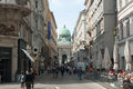 Graben street vienna tourists crowd the is a most famous for shopping in central Stock Image