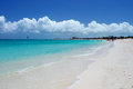 Grace bay beach providenciales beautiful in the turks and caicos islands Royalty Free Stock Photos