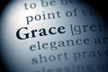 Grace fake dictionary dictionary definition of the word Stock Photo