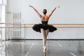 Graceful ballerina dance in ballet class Royalty Free Stock Photo