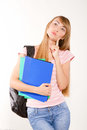 Graceful female student Stock Photography