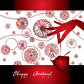 Graceful hand with gift red. Royalty Free Stock Photography