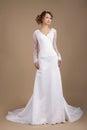 Graceful Young Bride In Weddin...