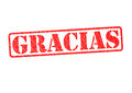 GRACIAS Rubber Stamp Royalty Free Stock Photo