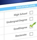 Grad degree education level survey illustration design Royalty Free Stock Image