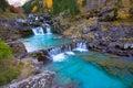 Gradas de Soaso in Arazas river Ordesa valley Pyrenees Huesca Sp Stock Photos