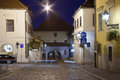 Gradec Stone Gate in Zagreb at night Royalty Free Stock Image