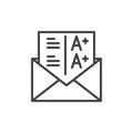 Grades line icon, outline vector sign
