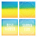 Gradient backgrounds with mandala and summer cards. Best summer, summer time.