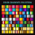 Gradient collection. Vector illustration. on black background