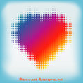 Gradient colorful heart halftone abstract background with space for your text or images Stock Photo