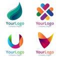Royalty Free Stock Photography Gradient logo