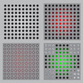 Gradient metal holes Royalty Free Stock Photos