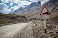 Gradient road sign kirghizia see my other works in portfolio Royalty Free Stock Images