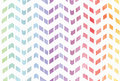 Gradient splattered rainbow background in zigzag pattern, hand drawn with watercolor ink. Seamless painted pattern, good for decor Royalty Free Stock Photo