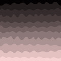 Gradient waves seamless pattern, pink and black. Vector