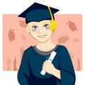 Graduate Boy Royalty Free Stock Image