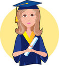 Graduate Girl Royalty Free Stock Photography