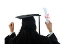 Graduate girl student in gown Royalty Free Stock Photography