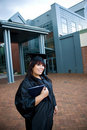 Graduate With Her Diploma Royalty Free Stock Photography