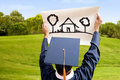 Graduate picturing the future Royalty Free Stock Image