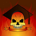 Graduate skull Stock Photography