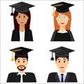Graduate students avatars, set