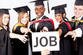 Graduates grab job Stock Photography