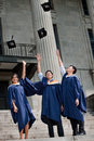 Graduates Hat Toss Royalty Free Stock Photography